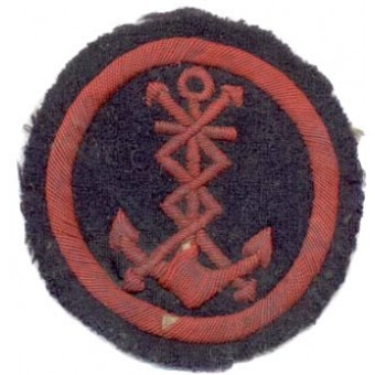 M43 NAVY arm patch signals-telegraph personnel. Espenlaub militaria
