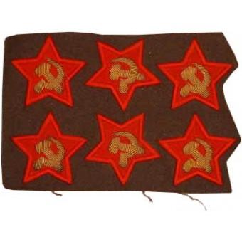 Red Army / Soviet Russian Politruk(Comissar) sleeve stars. Espenlaub militaria