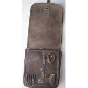 Early WW2 made NCOs map case, artificial leather.. Espenlaub militaria