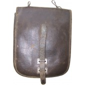 Early WW2 made NCOs map case, artificial leather.