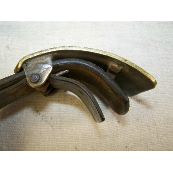 Russian trench art made buckle for use with captured German belt.. Espenlaub militaria